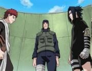 Gaara steht Sasuke gegenüber.