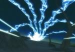 Zerstörerische Blitze lösen sich vom Chidori
