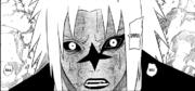 Orochimarus Muster um Sasukes Auge